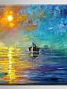 Peint à la main PaysageModern / Méditerranéen / Style européen Un Panneau Toile Peinture à l'huile Hang-peint For Décoration d'intérieur
