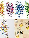 Animaux / 3D Stickers muraux Stickers muraux 3D Stickers muraux décoratifs / Stickers de frigo,PVC Matériel RepositionableDécoration