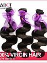 """3 st lot 12 """"-30"""" peruanska obearbetad råjungfru hår förkroppsligar vinkar vågig naturligt svart remy människohår väv / wefts buntar"""