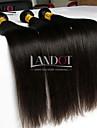 """3 st lot 8 """"-30"""" obearbetade råvaror mongoliska raka jungfru hårwefts naturliga svart remy människohår väva buntar tjocka"""