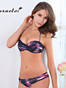 Femei Bikini Femei Bustieră Monocolor/Floral/Buline Sutiene cu Bureți/Sutiene cu Întăritură Nailon/Polyester