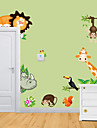 Animaux Stickers muraux Autocollants avion Autocollants muraux décoratifs,Vinyle Matériel Amovible Décoration d'intérieur Calque Mural
