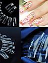 500 professionella klara transparenta koreanska standarder hälften väl falska akryl nail art tips (50pcsx10 storlekar blandad)