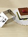 3''mousse verktygssats av kubisk mousse ring med körhandtaget ostkaka mögel rostfritt stål
