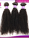 brasilianska kinky lockigt jungfru hår hårförlängning billiga obearbetade remy människohår väva buntar