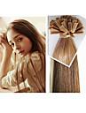 """300g / st brasiliansk människohår platt spets hårförlängning rakt hår 1g / strand, 100g / st 18 """"-28"""" finns på lager"""