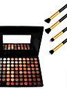 kosmetika 88 färger neutral palett + 4st ögonskugga penna makeup borste