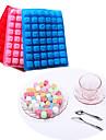 48 lettre bac à glaçons cake en silicone alphabet moule de cuisson de chocolat (de couleur aléatoire)