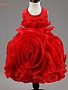 Robe Fille de Fleur Polyester / Coton Organique / Organza / Satin Eté / Automne / Printemps Rose / Violet / Rouge / Blanc / Jaune