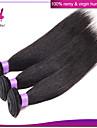 Tissages de cheveux humains Cheveux Brésiliens Droit 3 Pièces tissages de cheveux