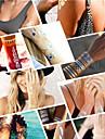 Tatueringsklistermärken - Mönster/Hawaiian/Waterproof - Smyckeserier - till Dam/Herr/Vuxen/Tonåring - Guld/Svart/Silver - Papper - 6-