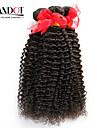 """8 """"-30"""" naturligt svart 6a brasiliansk lockigt hår väva 4st / lot 100% obearbetade brasilianska jungfru kinky lockigt hår"""