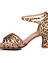 Chaussures de danse (Leopard) - Personnalisable - Talons personnalisés - Satin - Danse latine/Salsa