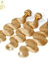 """3 pcs beaucoup 12 """"-30"""" blanchiment de platine 613 cheveux blonde vierge vague de corps de Remy de Brésilien faisceaux de tissage de"""