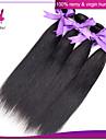 peruanska jungfru hår rakt människohår väva naturligt svart 1 st hel peruanska rakt hår buntar förlängning