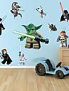 väggdekorationer väggdekaler, tecknad lego robotmonster pvc vägg klistermärke