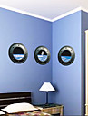 3 pièces extérieures astronautes spatiales fenêtre pvc muraux sticker mural Stickers