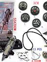 Bijoux / Badge Inspiré par Assassin's Creed Ezio Anime/Jeux Vidéo Accessoires de Cosplay Colliers / Gantelets / Badge / Broche Noir