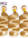 """4st mycket 14 """"-30"""" blekmedel blonda malaysiska oskuld hår förkroppsligar vinkar färg 613 remy människohår väva buntar dubbla dras inslag"""