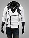 Pulls & Hoodies ( Coton/Lycra/Polyester ) Informel/Soirée/Travail Sweat à capuche à Manches longues pour Homme