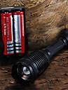 LED-Ficklampor / Ficklampor LED 5 Läge 2200 Lumen Justerbar fokus Cree XM-L T6 18650 / AAACamping/Vandring/Grottkrypning /