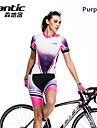SANTIC® Maillot et Cuissard de Cyclisme Femme Manches courtes Vélo Respirable / Séchage rapidePantalon/Surpantalon / Maillot / Maillot +