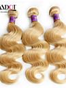 """4st mycket 14 """"-30"""" blekmedel blonda peruanska oskuld hår förkroppsligar vinkar färg 613 remy människohår väva buntar dubbla dras inslag"""
