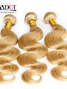 """4st mycket 14 """"-30"""" blekmedel blonda indisk jungfru hår förkroppsligar vinkar färg 613 remy människohår väva buntar dubbla dras inslag"""