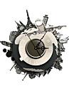 pag®modern 3d verkställer global resa vägg clock15.7 * 15,7 tum / 40 * 40 cm