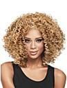 nouvelle sans colle mélange blond profonde de la mode des femmes bouclés courte perruque de cheveux pour les afro-américaine