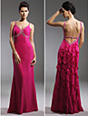 TS Couture® Prom / Military Ball / Formal Evening Dress - Fuchsia Plus Sizes / Petite Sheath/Column Straps Floor-length Chiffon