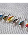 6 st Hårt bete Spigg Lock förpackningar Fiskbete Spigg Lock förpackningar Hårt bete Orange Rosa Gul Blå Ljusblå 4.5g g/1/6 Uns,65mm mm/