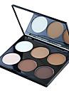6 couleurs 2in1 bronzante&soulignant poudre lumineuse&maquillage mat palette cosmétique avec miroir
