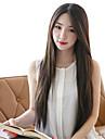 syntetiska kvinnor peruk koreanska stil rakt värmebeständigt peruker
