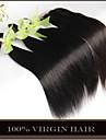 3Bundles filipino jungfru håret rakt av nedläggning obearbetat människohår väva och fri / mellersta / 3 del spets topp stängning