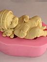 Moule de Cuisson Bébé qui dort Pour Gâteau Pour Cookie Pour Tarte Silikon 3D Ecologique Haute qualité