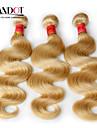 """3 st lot 12 """"-30"""" platina blekmedel blonda 613 jungfru hår brasilianska kroppen våg remy människohår väva buntar maskin wefts"""