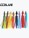"""Leurre souple / leurres de pêche Leurre souple / Octopus 40 pcs , 2.5g g / 1/10 Once , 95mm mm / 3.8"""" pouceBleu Foncé / Orange / Jaune /"""