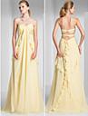 Teacă / coloană dragoste dragă mată / perie tren chiffon rochie seara cu ruching de ts couture®