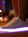 Femme-Sport-Blanc-Talon Plat-Light Up ChaussuresSimilicuir
