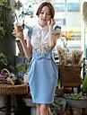 KVINNOR Kjolar ( Elastisk/Polyester Bodycon/Arbete stil