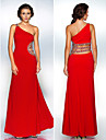 Formal Evening / Military Ball Dress - Ruby Plus Sizes / Petite Sheath/Column One Shoulder Floor-length Polyester