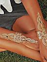 Tatueringsklistermärken - Non Toxic/Hawaiian/Ländrygg/Waterproof - Smyckeserier - till Dam/Herr/Vuxen/Tonåring - Multifärgad - Papper - 1 - styck