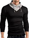 T-Shirts ( Coton mélangé ) Informel Rond à Manches longues pour Homme