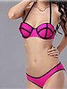 Femei Bikini Femei Bustieră Solid/Mulată Fără Întăritură/Sutiene cu Bureți Amestecuri de Bumbac/Polyester/Spandex
