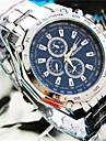 bande d'acier de quartz analogique de geneve hommes de montre décontracté (couleurs assorties)