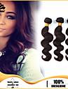 3pcs / lot cheveux humains vierges tisse les cheveux de vague de corps cheveux brésiliens trame regroupe cheveux noirs cheveux brun tisse