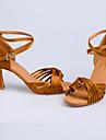 Chaussures de danse (Noir/Marron/Rouge/Leopard/Autre) - Non personnalisable - Talon aiguille - Satin -Danse latine/Sneakers de