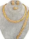 västra regn guld kristall modet halsband