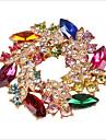 Alliage/Zircon Cubiques/Rose Plaqué Or Mignon/Informel pour Femme